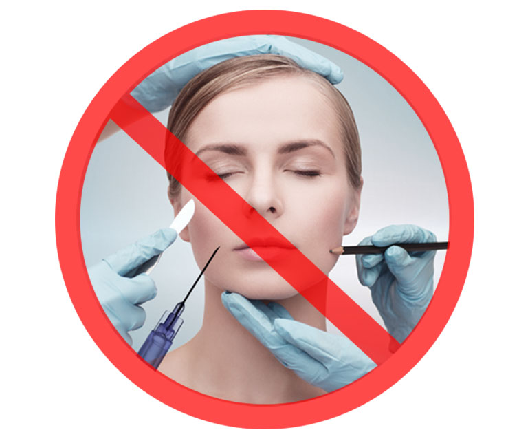 Image result for no to botox